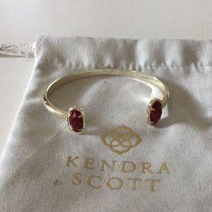 Kendra Scott Elton bracelet- maroon